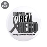 "Never Knew A Hero 2 Grey (Best Friend) 3.5"" Button"