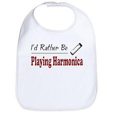 Rather Be Playing Harmonica Bib