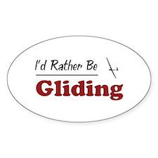 Rather Be Gliding Oval Sticker (10 pk)