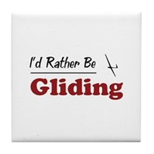Rather Be Gliding Tile Coaster