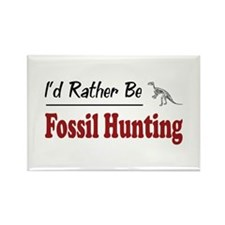 Rather Be Fossil Hunting Rectangle Magnet (100 pac