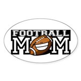Football Mom Smilies Oval Decal