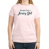 Everyone Loves Jersey Girl  Women's Pink T-Shirt
