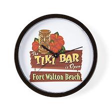 Ft. Walton Beach Tiki Bar - Wall Clock