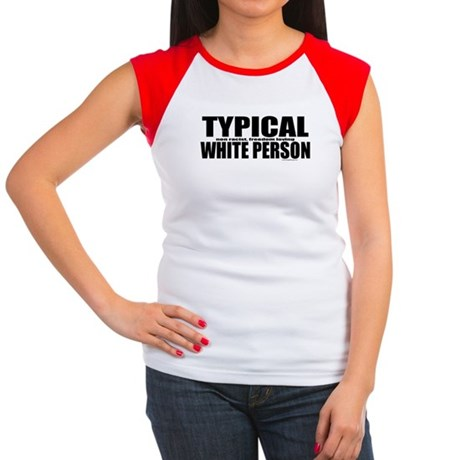 Typical White Person Women's Cap Sleeve T-Shirt