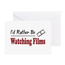 Rather Be Watching Films Greeting Card