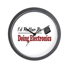 Rather Be Doing Electronics Wall Clock