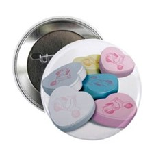 Vespa Scooter Candy Hearts Button