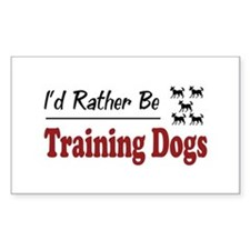 Rather Be Training Dogs Rectangle Decal
