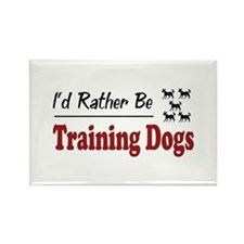 Rather Be Training Dogs Rectangle Magnet (10 pack)