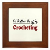 Rather Be Crocheting Framed Tile
