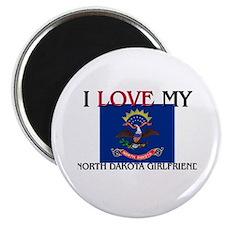 I Love My North Dakota Girlfriend Magnet