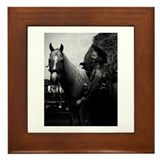 Americana Palomino and Cowgirl Framed Tile