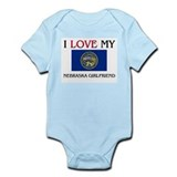I Love My Nebraska Girlfriend Infant Bodysuit