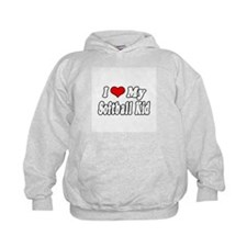 """I Love My Softball Kid"" Hoodie"