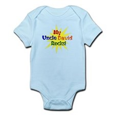 MY UNCLE DAVID ROCKS Infant Bodysuit