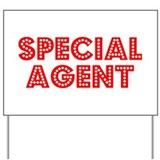 Retro Special agent (Red) Yard Sign