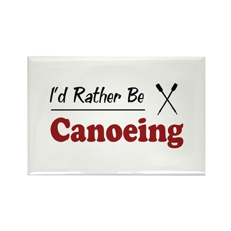 Rather Be Canoeing Rectangle Magnet (100 pack)