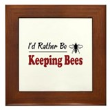 Rather Be Keeping Bees Framed Tile