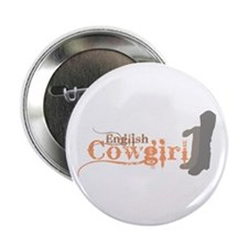 "English Cowgirl 2.25"" Button"