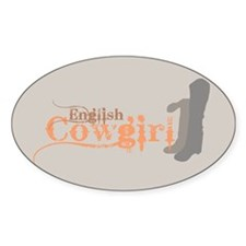 English Cowgirl Oval Decal