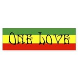 One Love Bumper Car Sticker
