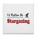 Rather Be Stargazing Tile Coaster