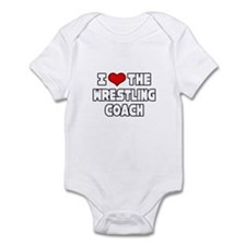 """I Love The Wrestling Coach"" Infant Bodysuit"