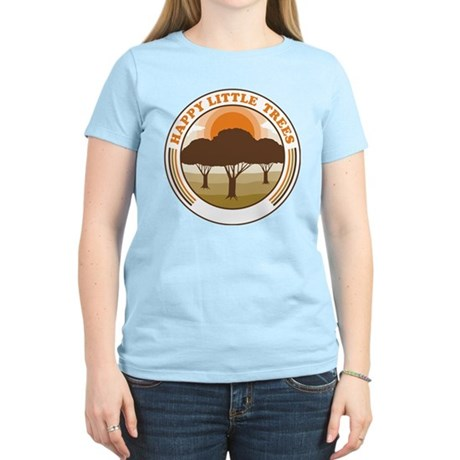 happy little trees Womens Light T-Shirt