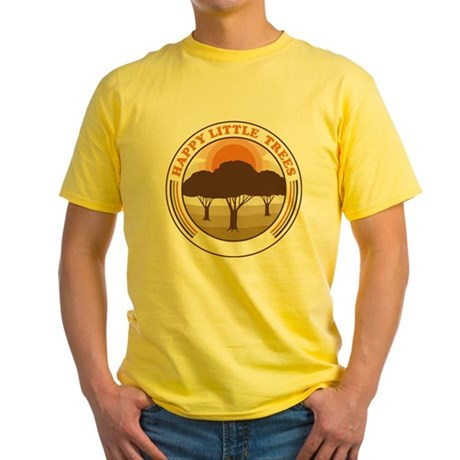 happy little trees Yellow T-Shirt