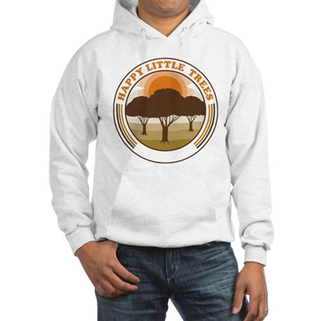 happy little trees Hooded Sweatshirt