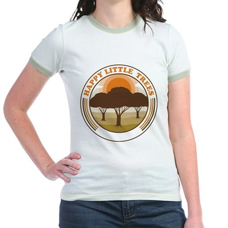 happy little trees Jr Ringer T-Shirt