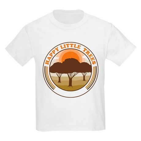 happy little trees Kids Light T-Shirt