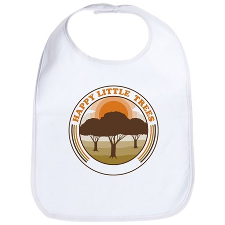 happy little trees Bib