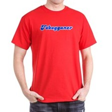 Retro Tobogganer (Blue) T-Shirt