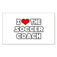"""I Love The Soccer Coach"" Rectangle Decal"