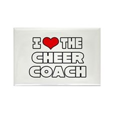"""I Love The Cheer Coach"" Rectangle Magnet"
