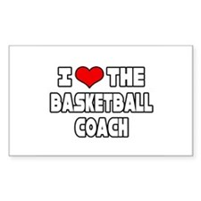 """I Love The Basketball Coach"" Rectangle Sticker 5"
