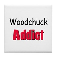 Woodchuck Addict Tile Coaster