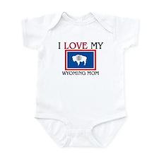 I Love My Wyoming Mom Infant Bodysuit