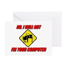 Cute Computer geek Greeting Cards (Pk of 20)