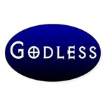 Oval Godless Bumper Sticker