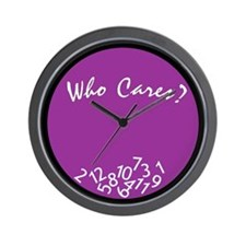 Who Cares? Wall Clock<br>(purple)
