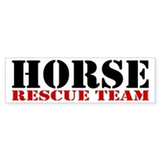 Horse Rescue Team Bumper Bumper Sticker