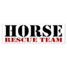 Horse Rescue Team Bumper Sticker (10 pk)