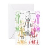 Edison light bulb Greeting Card
