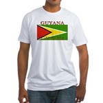 Guyana Guyanese Flag Fitted T-Shirt