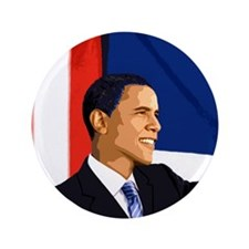 "Barack Obama 3.5"" Button (100 pack)"