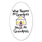 Grandpa's House Oval Decal
