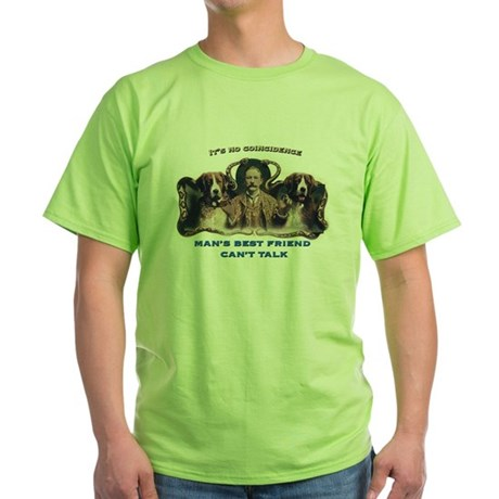 Man's Best Friend Green T-Shirt